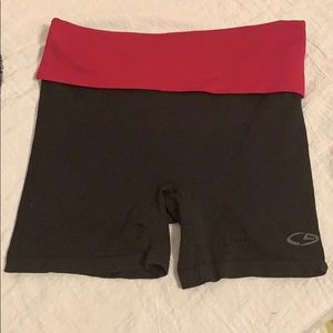 NWOT Champion Black & Fuchsia Athletic Shorts!